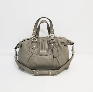 Coach F19452 Ashley Leather Zipper Satchel